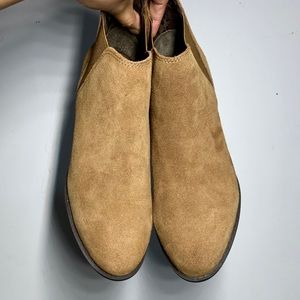 White Mountain | chestnut brown suede ankle boots